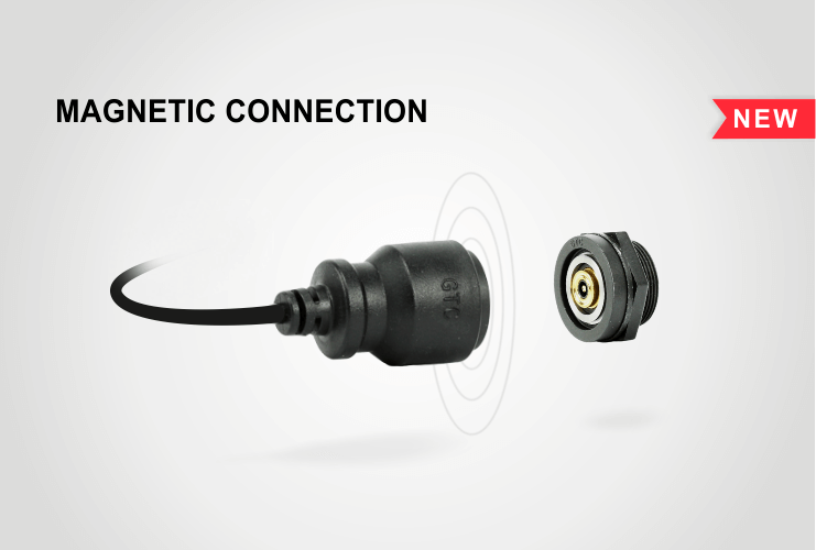 Magnetic connector, rotating 360 degrees