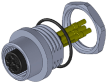 M12 Panel Connector